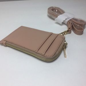 "Accessories - Pink ID Wallet with Strap. 3""X5"""